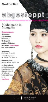 abgesteppt mode made in mongolia ifa-galerie