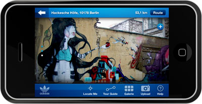 Adidas Urban Art Guide als iPhone Applikation