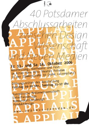 applaus potsdam abschlussarbeiten zwischen design, wissenschadt und neuen medien