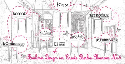 berliner design create berlin showroom komat bombdesign kex rosa glanz miroike formfjord