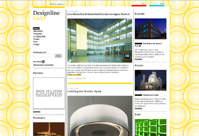 designlines baunetz präsentiert licht office bad henkelhiedl annual multimedia award