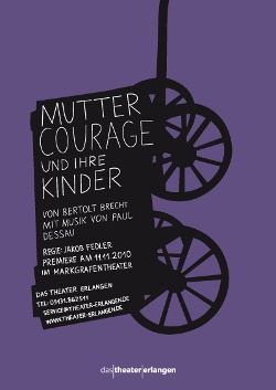 plakat grafik theater mutter courage berliner agentur