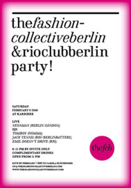 FRANZIUS, Lala Berlin, majaco, mongrels in common, presque fini, PULVER, starstyling, IO, Maiami, Reality Studio, von Wedel & Tiedeken, bubble.kid berlin