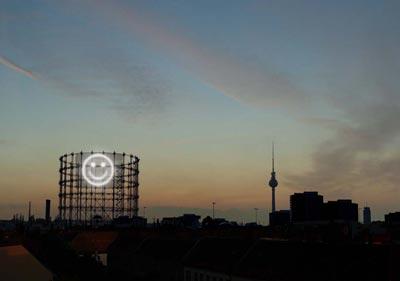 Medienfassadenfestival Gasometer Berlin