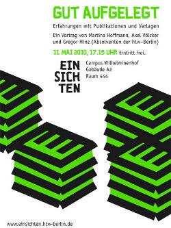htw berlin einsichten 2010 Axel Völcker Martina Hoffmann Gregor Hinz